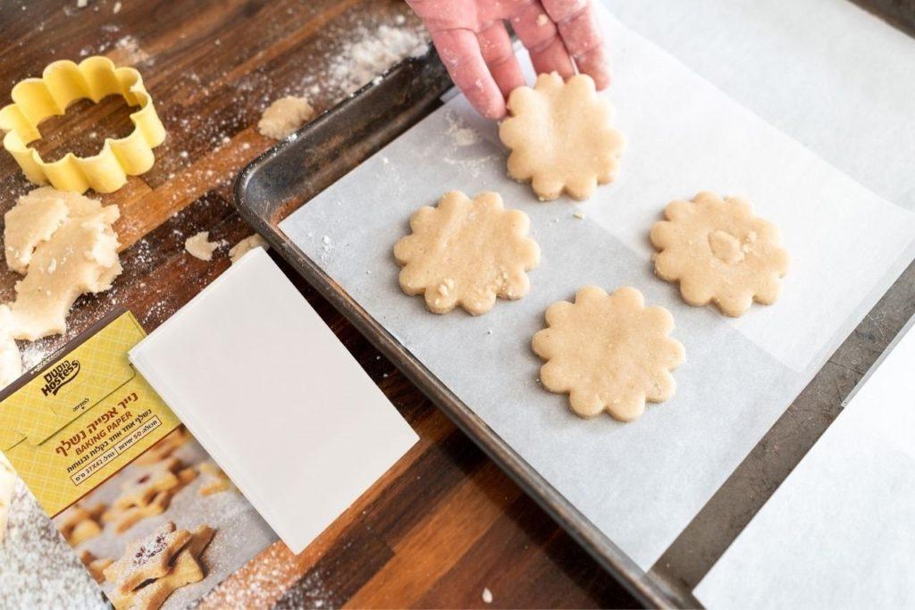 נייר אפייה, עוגיות