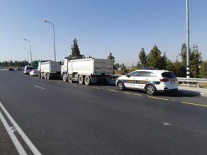 משטרת התנועה, משאיות,כביש,
