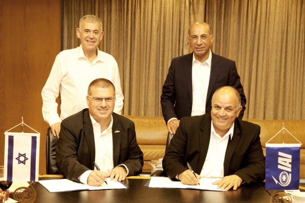 מעמד החתימה בין התעשייה האווירית ומספנות ישראל
