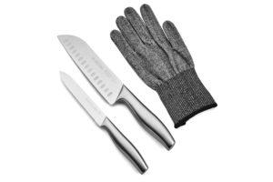 סכיני שף וכפפת הגנה